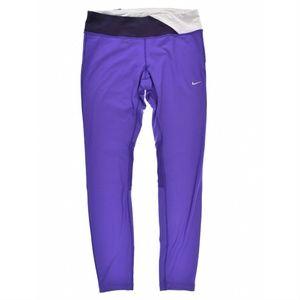 Nike Womens Epic Run Tights Purple Black White NWT